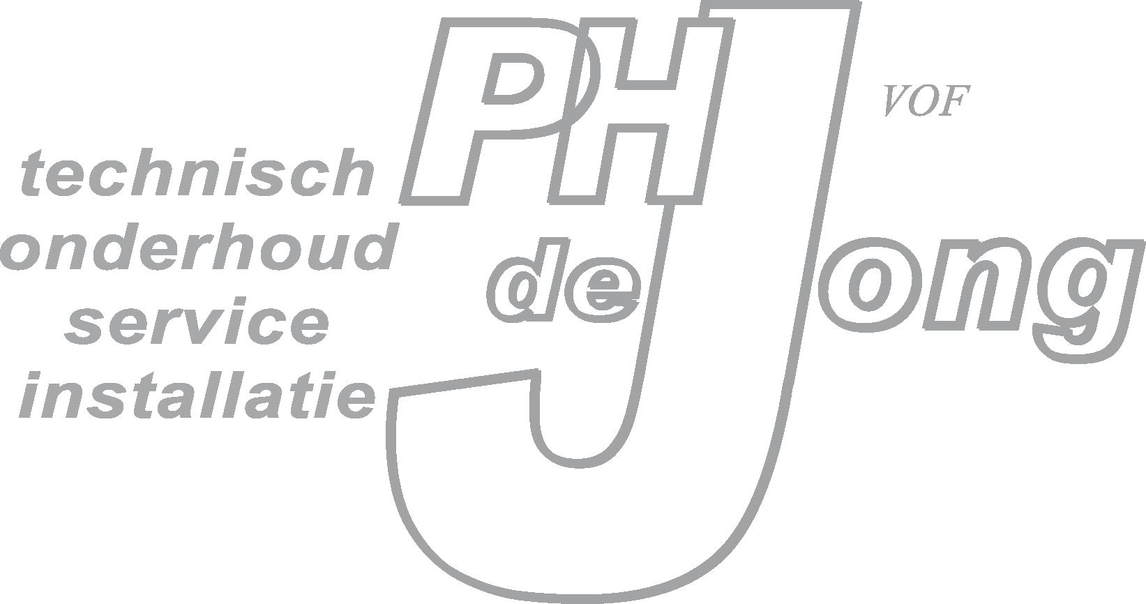 logo PH de jong 1 kleur